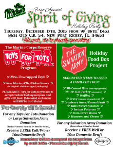 Typhoon's Sports Bar - Spirit of Giving