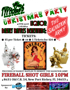 Typhoon's Sports Bar - Christmas Party (with Liquor Basket Raffle!!!)